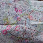 mapa z zaznaczonymi jarmarkami
