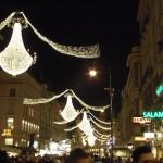 główna ulica Wiednia w świątecznej szacie
