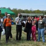 rozpoczęcie i przywitanie turystów na polanie