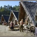 wioska średniowieczna tym razem  pełna życia